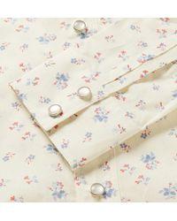 Saint Laurent - White Floral-Print Cotton Shirt for Men - Lyst