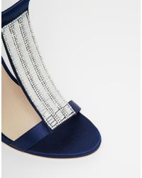 ASOS | Blue Holidays Embellished Heeled Sandals | Lyst