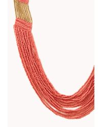Forever 21 | Metallic Free Spirit Beaded Necklace | Lyst