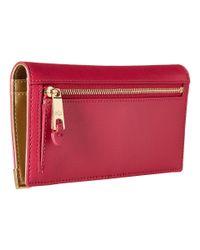 Lauren by Ralph Lauren | Pink Acadia Slim Wallet | Lyst