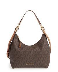 MICHAEL Michael Kors - Brown 'medium Isabella' Convertible Leather Shoulder Bag - Lyst