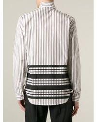 J.W.Anderson - Black Contrast Stripe Shirt for Men - Lyst