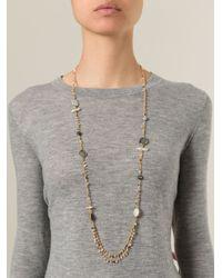 Gas Bijoux | Metallic Beaded Chain Necklace | Lyst