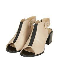 TOPSHOP - Natural Juicy Mid-Heel Shoes - Lyst
