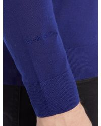 Paul Smith | Blue Plain Crew Neck Pull Over Jumpers for Men | Lyst