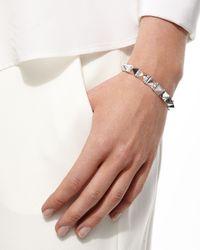 Anita Ko - Metallic 18k White Gold Large Diamond Spike Bracelet - Lyst