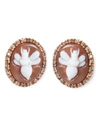 Amedeo | Brown Bees Earrings | Lyst