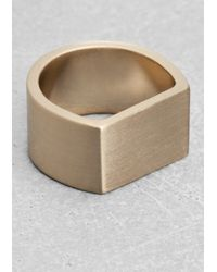 & Other Stories | Metallic D-Shaped Ring | Lyst