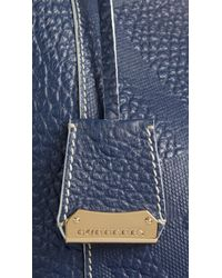 Burberry - Blue The Small Canter In Bonded Leather - Lyst