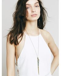 Free People | Blue Cutout Spike Pendant | Lyst