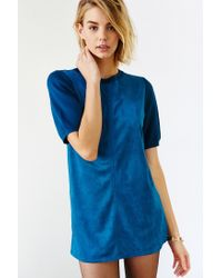 Glamorous - Blue Faux Suede Tunic - Lyst