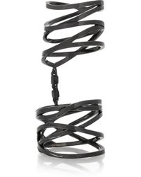 Repossi - White Noise 18-Karat Black Gold-Washed Ring - Lyst