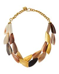 Ashley Pittman | Metallic Shabaha Mixed Horn Wing Collar Necklace | Lyst