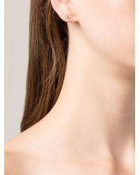 Wwake   Green 14Kt Gold Opal Stud Earrings   Lyst