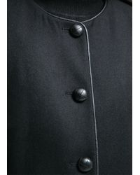 Mango - Black Buttoned Wool-Blend Coat - Lyst