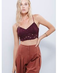 Free People | Purple Intimately Womens Wildflowers Crop Bra | Lyst