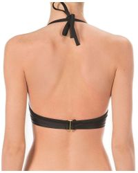 Ultimo | Black Fixed Gel Swim Top | Lyst