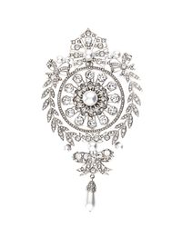 Givenchy | White Crystal-Embellished Brooch | Lyst