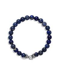 David Yurman | Blue Spiritual Bead Bracelet With Precious Gemstones, 8mm for Men | Lyst