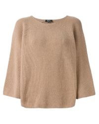 A.P.C. - Natural Wide Sleeve Sweater - Lyst