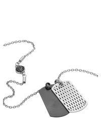 DIESEL - Gray Necklace Dx0842 for Men - Lyst