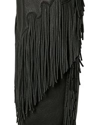 See By Chloé - Black 20mm Fringed Goat Over The Knee Boots - Lyst