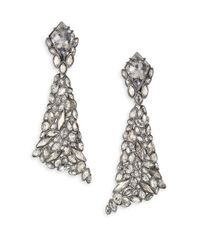Alexis Bittar | Metallic Miss Havisham Crystal Broken Glass Clip-on Drop Earrings | Lyst