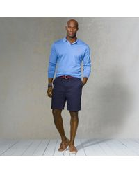 Polo Ralph Lauren | Blue Pima Cotton Placket Sweater for Men | Lyst