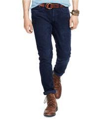 Polo Ralph Lauren | Blue Varick Slim-straight Corduroy Pants for Men | Lyst