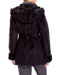 Jones New York - Black Faux Fur Lined Coat - Lyst