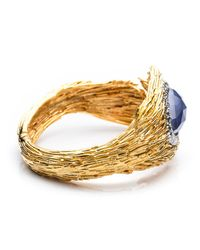 Alexis Bittar - Blue Maldivian Feathered Hinge Cuff With Iolite Doublet - Lyst