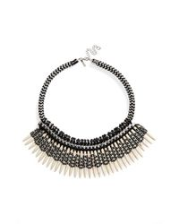 TOPSHOP - Black Statement Collar Necklace - Lyst