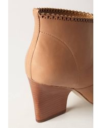 Sigerson Morrison - Brown Nicki Scalloped Booties - Lyst