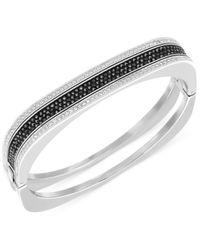 Swarovski - Metallic Vio Rhodium-Tone Jet Crystal Bangle Bracelet - Lyst
