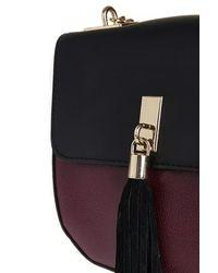 TOPSHOP   Black Tassel Saddle Bag   Lyst