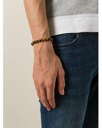 Fefe | Brown Stone Bead Bracelet for Men | Lyst