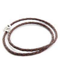 Gilbert Gilbert | Jo12 Plaited Brown Bracelet for Men | Lyst