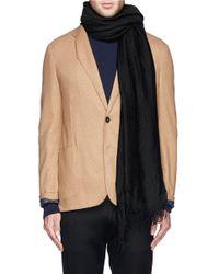 Faliero Sarti - Black 'carlotta' Modal-cashmere-silk Scarf for Men - Lyst