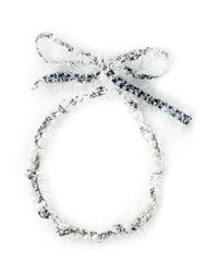 Lanvin | White Fluffy Necklace | Lyst