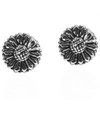 Aeravida - Black Zebra Flower Clip On Earrings - Lyst