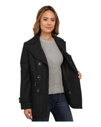 MICHAEL Michael Kors | Gray Wool Double-breasted Peacoat | Lyst
