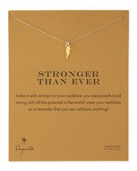 Dogeared | Metallic Stronger Than Ever Gold-dipped Necklace | Lyst