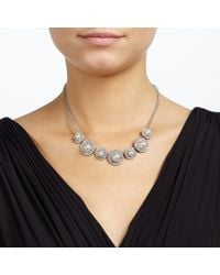 John Lewis - Metallic Pearl And Pave Circle Design Necklace - Lyst