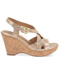 Söfft | Metallic Vivien Platform Wedge Sandals | Lyst