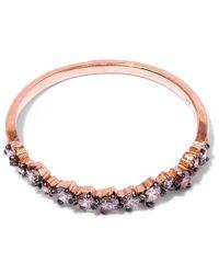 Suzanne Kalan - Pink Rose Gold Starburst Diamond Ring - Lyst