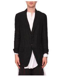 Uma Wang - Gray Marco Linen Jacket for Men - Lyst