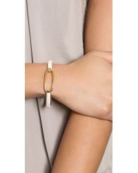 Marc By Marc Jacobs | Metallic Leather Hinge Cuff Bracelet - Black | Lyst