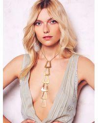Free People | Metallic Seaworthy Womens Oleria Tie Necklace | Lyst