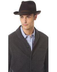 Borsalino - Brown Fur Felt Fedora for Men - Lyst