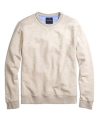 Brooks Brothers | Natural Crewneck Sweatshirt for Men | Lyst
